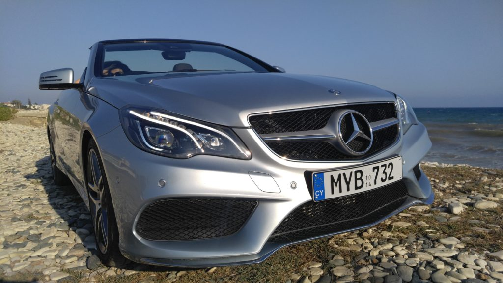 Rent Mercedes E Cabriolet in Cyprus